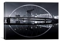 The Squinty Bridge, Glasgow, Canvas Print