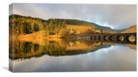 Golden light in the Elan Valley, Canvas Print