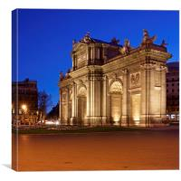 Madrid at night, Canvas Print