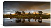 A Dark and Broody sky over the Rannoch Moor, Canvas Print