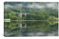 Loch Achray morning mist, Canvas Print