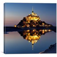 Mont Saint Michel, Canvas Print