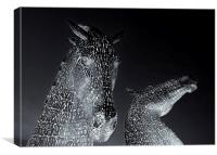 Kelpies, Canvas Print