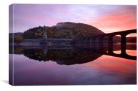 Sunrise in the Elan Valley, Canvas Print