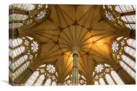 Salsibury Cathedral Chapter House roof, Canvas Print