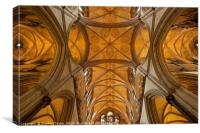 The roof of Salisbury Cathedral, Canvas Print