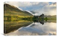 Loch Awe still waters, Canvas Print