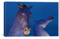 The Two heads of the Kelpies, Canvas Print