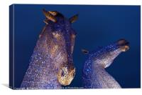 The Kelpies at night, Canvas Print