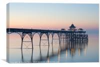 Sunset at Clevedon Pier, Canvas Print