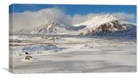 Winter on Rannoch Moor, Canvas Print