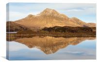Loch Lurgainn reflections, Canvas Print