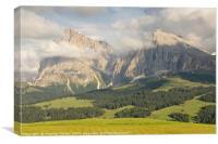 Alpe di Suisi, Canvas Print