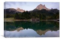 Lac de Bious-Artigues, Canvas Print