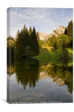 Lac de Fontaine, Canvas Print