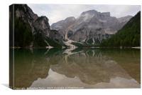 Lago di Braies, Canvas Print