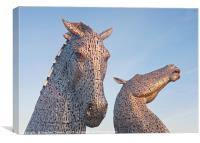 First Light at the Kelpies, Canvas Print