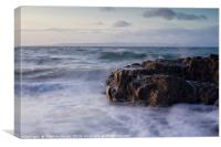 Last Light at Dunure Beach, Canvas Print