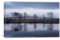 Steely Skies on Rannoch Moor, Canvas Print