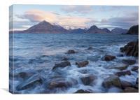 Dawn at Elgol, Canvas Print