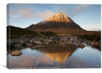 Sunrise in Glencoe, Canvas Print