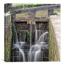 Huddersfield Narrow Canal, Lock 14W, Canvas Print
