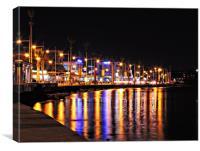 Paphos Promenade, Canvas Print