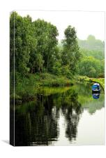 Roaches Lock Huddersfield Canal Mossley, Canvas Print