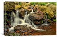 Birchen Clough Waterfall, Canvas Print