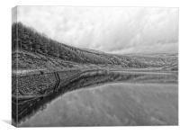 Yeoman Hey Reservoir Saddlworth, Canvas Print