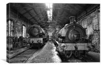Tanfield Railway Engine Shed, Canvas Print
