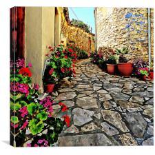 Lace Village Cyprus          , Canvas Print