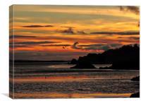 Coastal Sunset          , Canvas Print