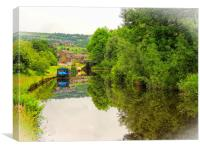Canal Reflections          , Canvas Print