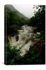 Glen Nevis Lower Falls, Canvas Print