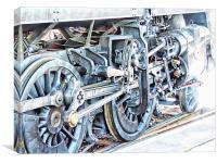 Driving Wheels          , Canvas Print