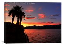 sunset over Isola Bella, Stresa, Italy          , Canvas Print