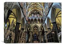 salisbury cathedral          , Canvas Print
