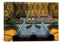 salisbury cathedral organ pipes          , Canvas Print