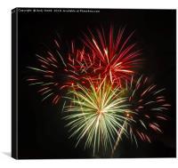 Poole Harbour Fireworks          , Canvas Print