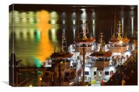 Ramsgate Royal Marina by Night, Canvas Print