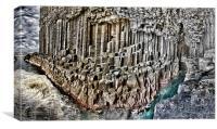 Fingal's cave panorama, Staffa, Scotland, Canvas Print