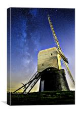 Milkyway above Wrarby Mill, Canvas Print