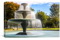 Central fountain, Canvas Print