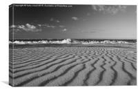 Sand ripples, Canvas Print