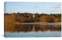 Tower Reflection Whitlingham Broad, Canvas Print