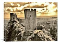 Castle views, Canvas Print