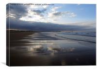 Seaton Sluice Beach, Canvas Print