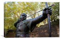 Robin Hood Statue, Nottingham, Canvas Print