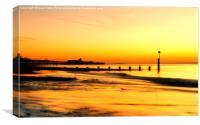 sunrise beach., Canvas Print